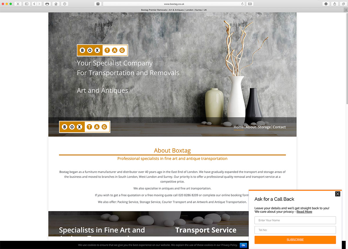 Website Design for Removal Company