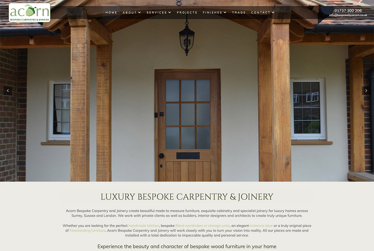 Carpentry Website Surrey