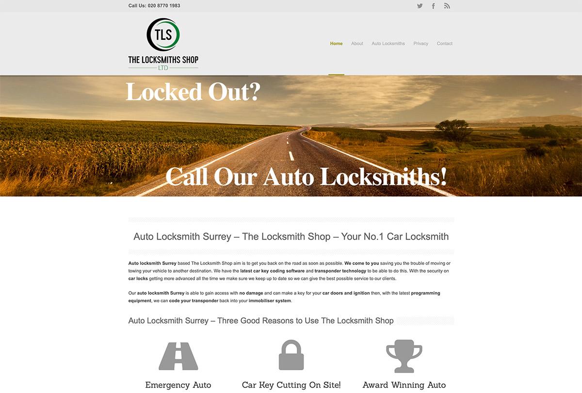 Auto Locksmith Website Design