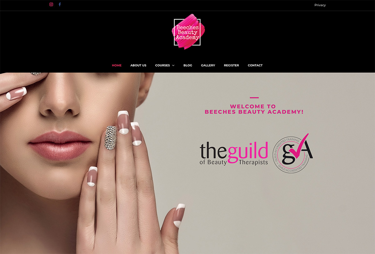 Website Design Beauty School