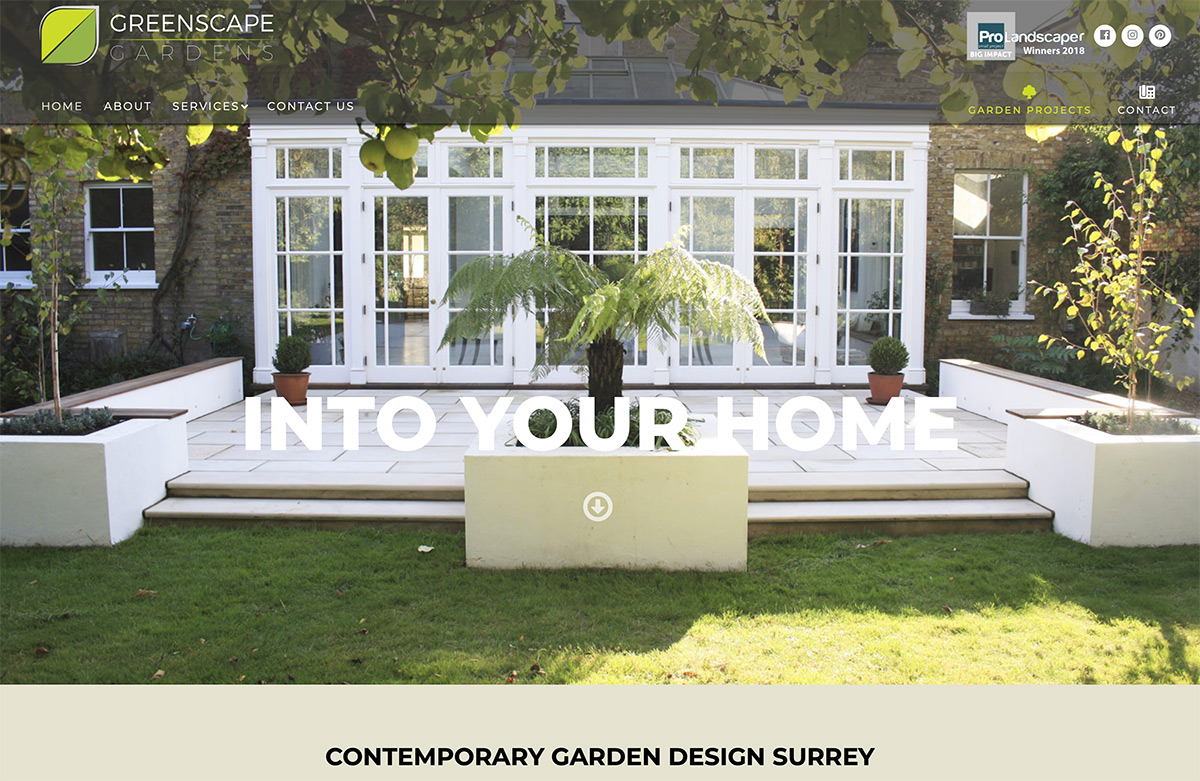 Website Design Landscape Gardeners