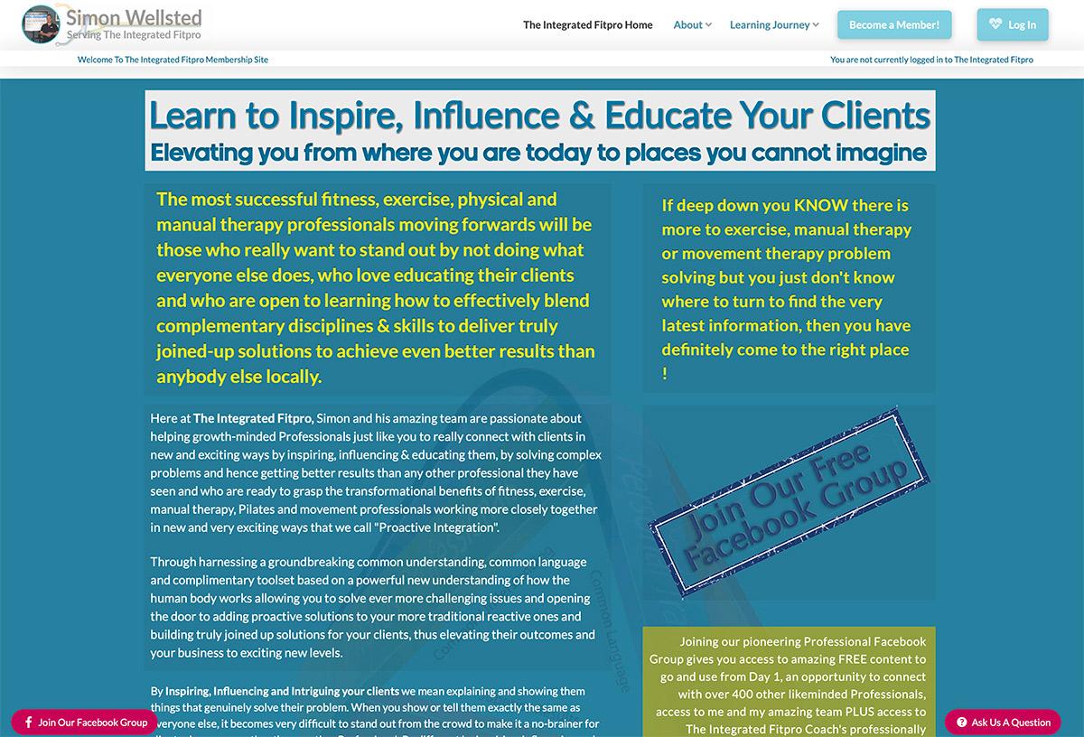 Website Design Fitness Coaching