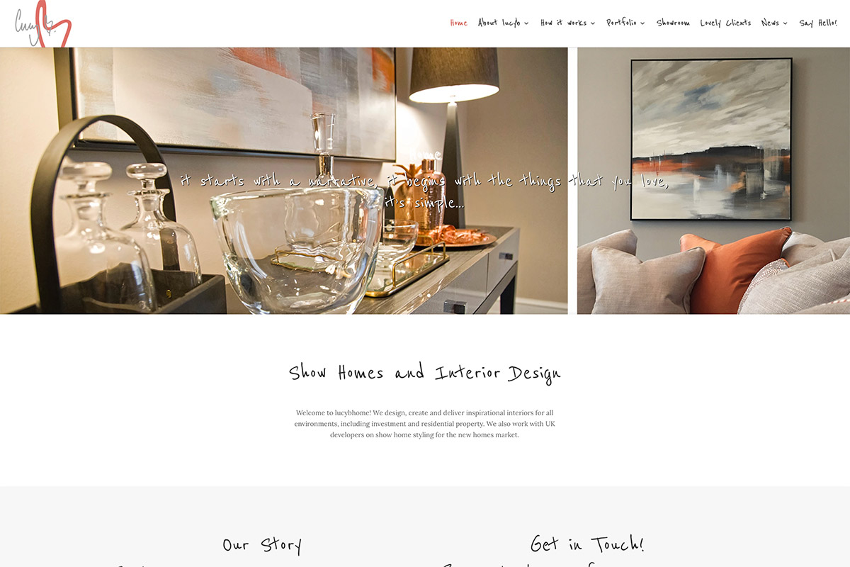 Website Design Interior Designer Cheam