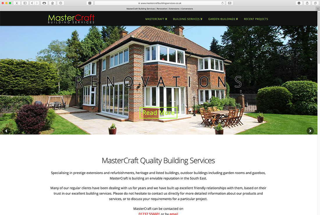 Website Design for Building Company Surrey