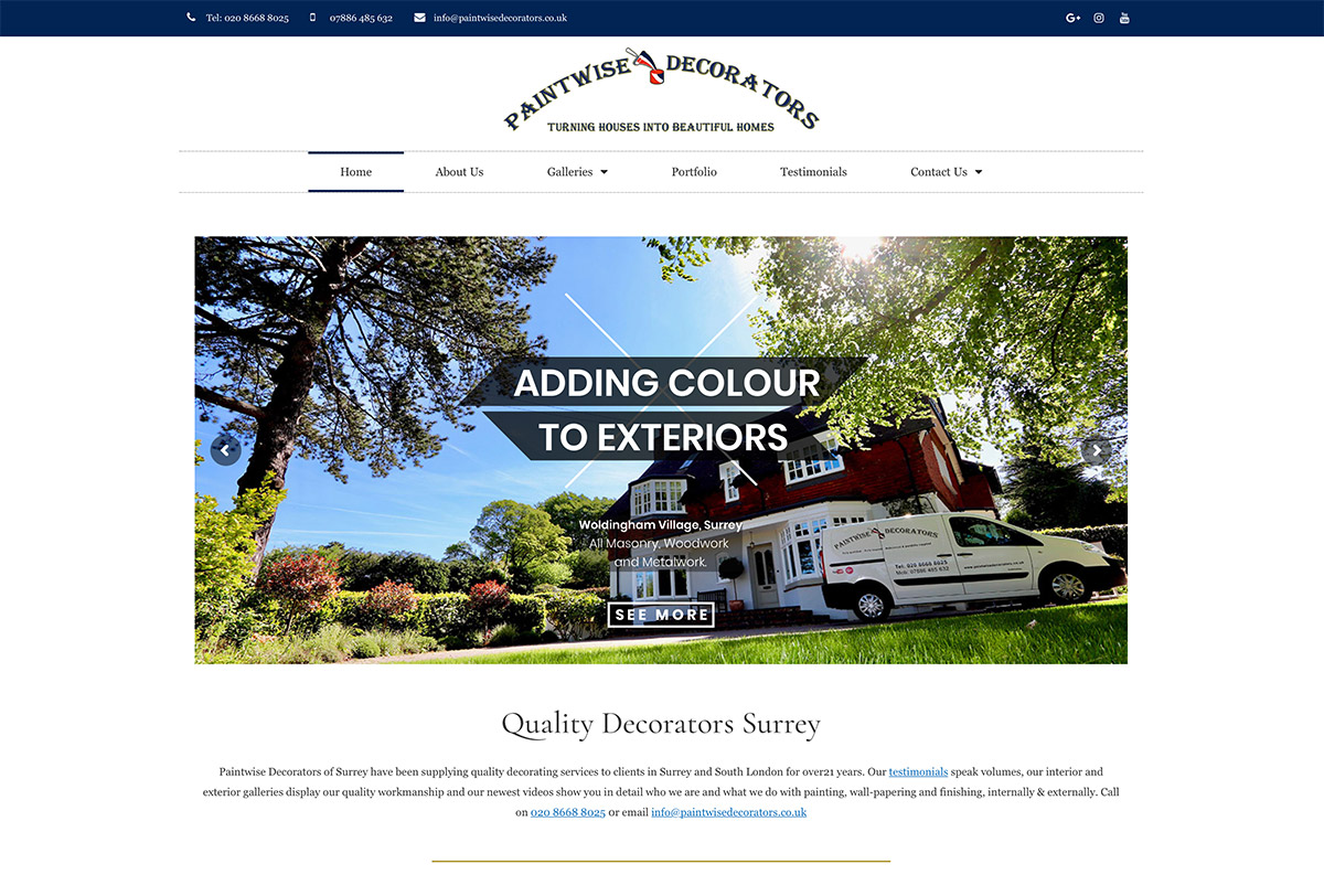 Website Design for Decorators