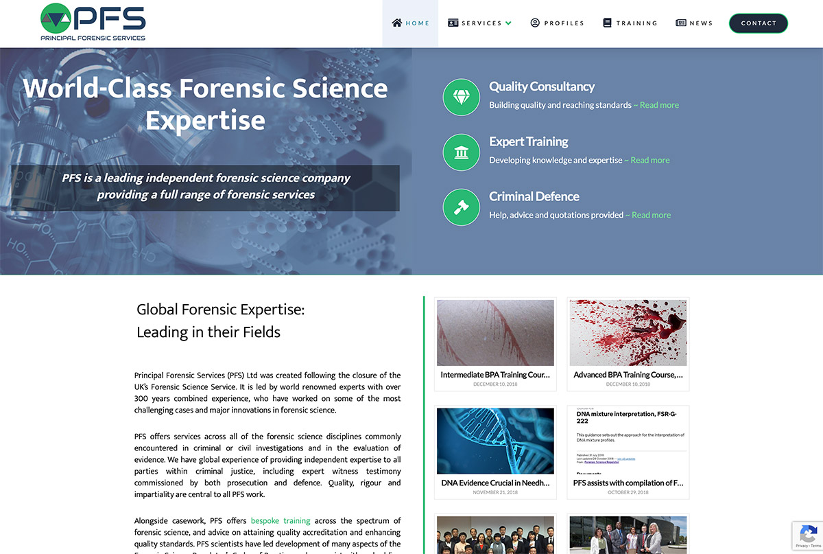 Website Design Forensic Science