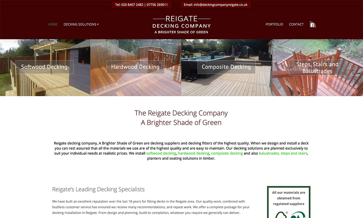 Decking Company Website