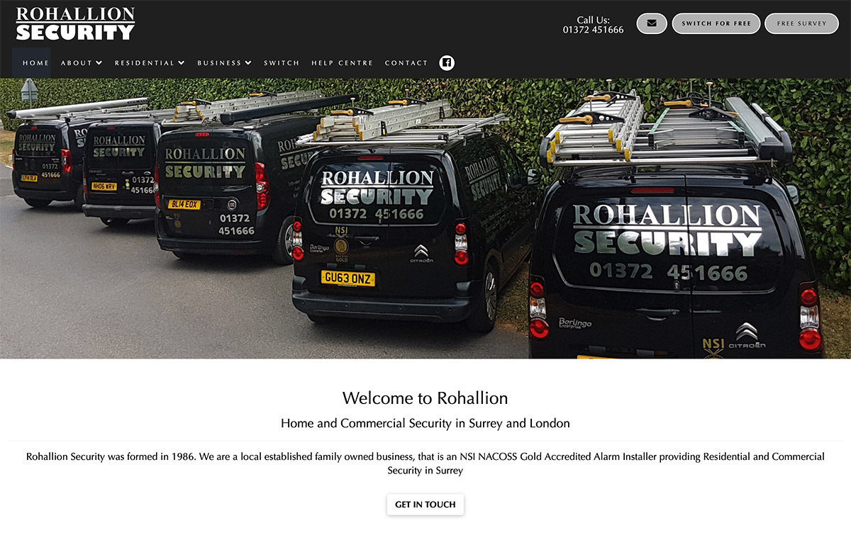 Website Design for Security Company