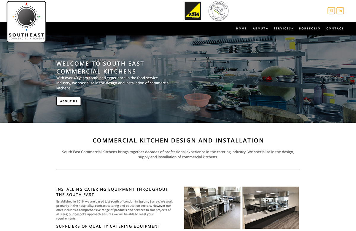 Commercial Kitchen Website Design