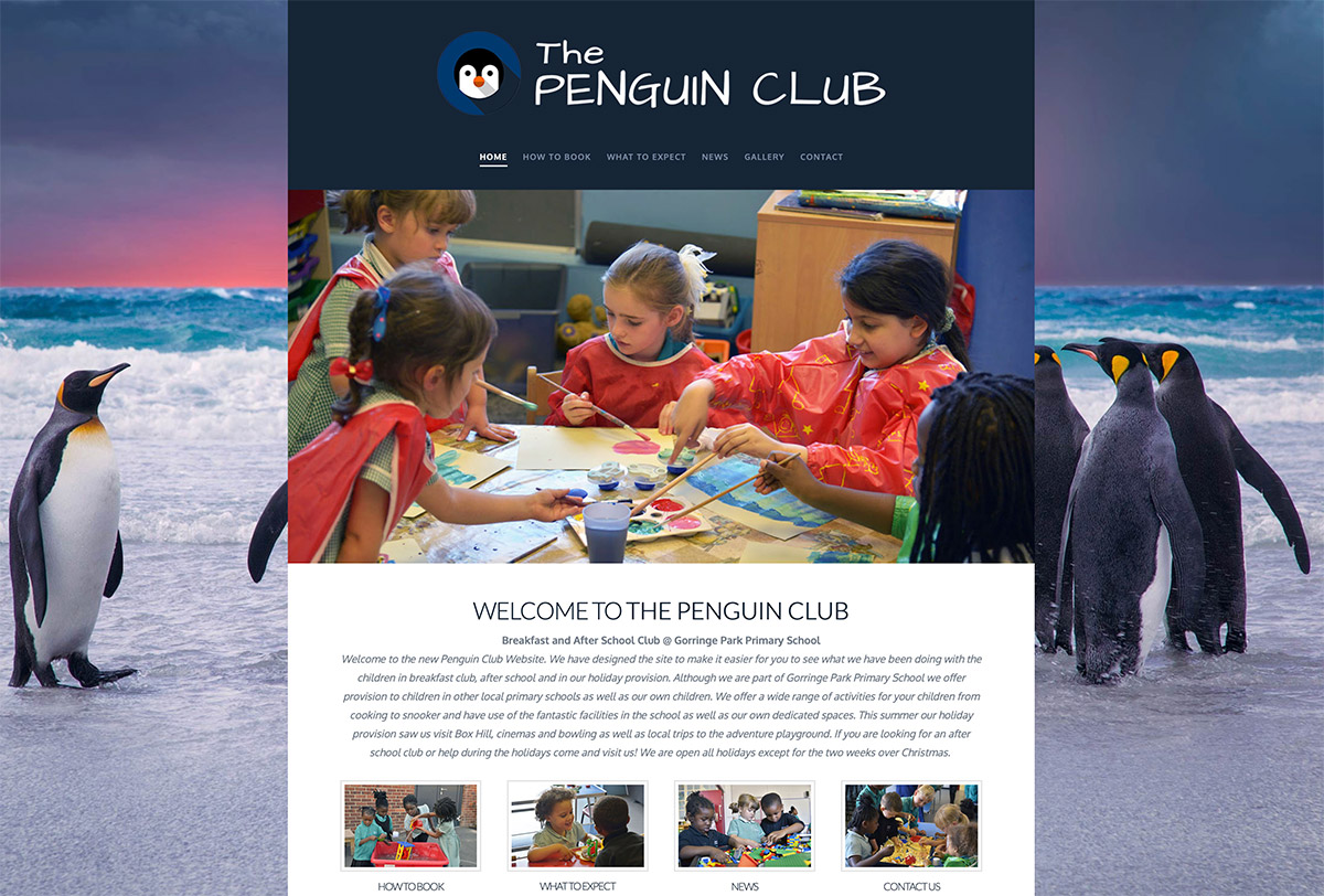 School Club Website Design
