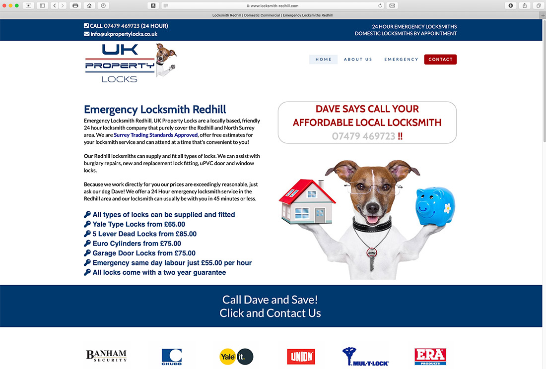 Website Design for Locksmith Surrey